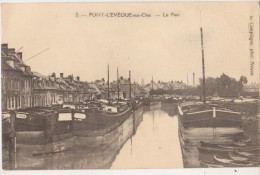 CPA 60 PONT L'EVEQUE Le Port Péniches Batellerie - France