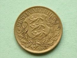 1934 - 1 Kroon / KM 16 ( For Grade, Please See Photo ) !! - Estonia