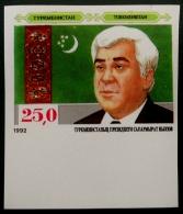 PRESIDENT NIYASOV 1992 * NEUF ** - YT 12 - MI 11 - NON-DENTELE - RARE - BAS DE FEUILLE - Turkménistan
