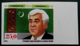 PRESIDENT NIYASOV 1992 - NEUF ** - YT 12 - MI 11 - NON-DENTELE - RARE - BORD DE FEUILLE DROIT - Turkménistan