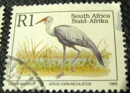 South Africa 1993 Bird Grus Carunculatus 1R - Used - Used Stamps