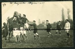 RUGBY 6 CP PHOTOS INÉDITES ASC CARCASSONNE VS ASB BEZIERS A CARCA LE 23/11/ 1924 SAISON 1924 1925 - 38 39 40 41 42 43 - Rugby
