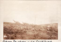 Photo Originale 14-18 Entrainement à LA COURTINE - Une Batterie De Canons US (65th Art) (A49, Ww1, Wk1) - La Courtine