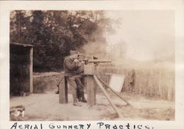 Photo Originale 14-18 Entrainement à LA COURTINE - Mitrailleuse Anti-aérienne US Army (65th Art) (A49, Ww1, Wk1) - War 1914-18