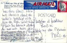 BOSTON Belle Vignette AVION AIRMAIL HOTEL HILTON - Boston