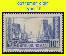 N°261 PORT DE LA ROCHELLE TYPE II 1929 - N* CHARNIÈRE OU TRACE (VOIR VERSO) - - Nuovi