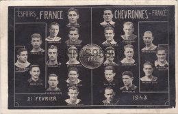 CARTE PHOTO MONTAGE - EQUIPE DE FRANCE ESPOIRS - CHEVRONNES DE FRANCE - EQUIPE DE FOOTBALL - FOOT - 1943 - Football