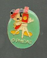 PINS PIN´S DISNEY MICKEY PLUTO DAISY PHILDAR PHOTO CAMERA  2,5 CMS - Disney