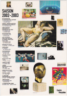 Carte Postale Publicité Du Centre Pompidou - Saison 2002-2003 - Musei
