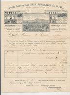 FA 679 / FACTURE -  SOCIETE DES EAUX MINERALES DE VITTEL  VOSGES - 1800 – 1899