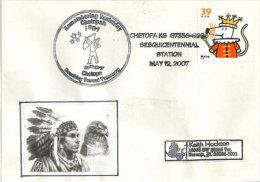 USA. Chef Indien Chetopa , Tribu Des Osages, Enveloppe Du Kansas 2007 - American Indians