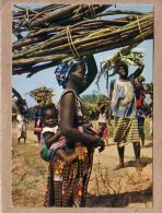 AFRIQUE EN COULEURS - CPM - 3211 - PORTEUSES DE FAGOTS - FEMME - éditeur HOA-QUI - Postcards