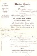 DECISION NOMINATION -ST AUBAN -ALPES MARITIMES- MINISTERE DES FINANCES -  1882 - Seals Of Generality