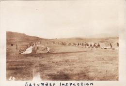 Photo Originale 14-18 LA COURTINE - L'inspection Du Samedi, US Army (65th Art) (A49, Ww1, Wk1) - La Courtine