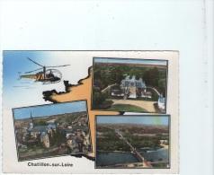 45 CHATILLON-sur-LOIRE - L'église - Le Chateau De Courcelles - Le Pont - Chatillon Sur Loire
