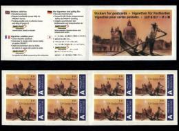 Switzerland 1998 Booklet SPI 2 Postcard Stickers MNH Swiss Post, Venice Gondola San Marco Italy Italia UNUSUAL And RARE! - Booklets