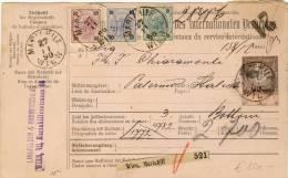 Österreich - Paketkarte 1890 Nach Palermo 3+10+50 Kreuzer Ausgabe 1890 - 28486 - Briefe U. Dokumente