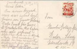 Österreich - Postkarte 1925 - Papierfalte Auf 24 Groschen - Innsbruck - 1918-1945 1. Republik