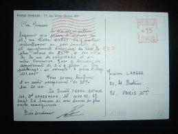 CP EMA CG 3105 à 15 Du 20.1.67 PARIS 88 (75) + PARIS DEMAIN + VUE IMMEUBLE AUTO VOITURE - Marcofilie (Brieven)