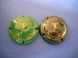 Lot De  2 Capsules Champagne FRANCIS THOMAS Vert/vert Foncé - Champagne