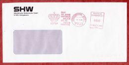 Brief, Francotyp-Postalia F20-7812, Krone, SHW - Ueber 150 Jahre Hartguss-Walzen,  80 Pfg, Koenigsbronn 1989 (43702) - Covers & Documents