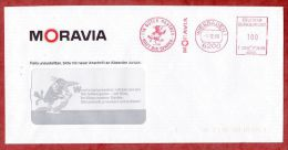 Brief, Francotyp-Postalia F20-8285, Rabe, Ein Guter Partner .. Moravia, 100 Pfg, Wiesbaden 1989 (43703) - [7] Repubblica Federale