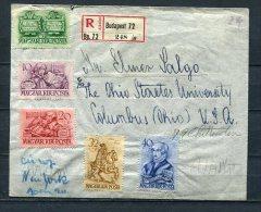 Hungary 1939  Registered Cover Budapest-USA Complete Set ++ - Hungary