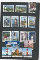 282 TP - 16 TIMBRES OBLITERES  - THEME PHARES - Lighthouses
