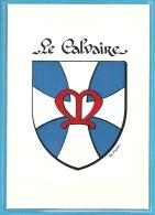 LE CALVAIRE -  Armorial, Blason - Modern Cards