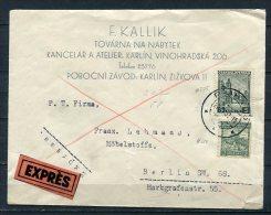 Chechoslovakia 1932 Express  Cover Karlin Berlin - Czechoslovakia
