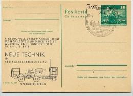 BLASTING VEHICLE Tangerhütte East German Postal Card Private Print P79-18a-78 C68-a - Geology