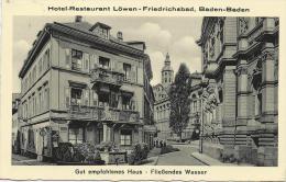 Baden-Baden - Hôtel-Restaurant Löwen-Friedrichsbad (ca. 1952) - Baden-Baden