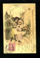 JOLIE CARTE PIONNIERE  COUPLE D ENFANTS DNAS UN SOUS BOIS  SBW   1906 - Scenes & Landscapes