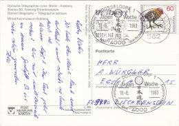 BRD 1102 Auf AK: Koblenz, Festung Ehrenbreitstein, Mit Sonderstempel: Düsseldorf Japan-Woche 18.6.1983 - Germany