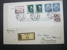 1938, Einschreiben Mit Mischfrankatur Aus Wien - Deutschland