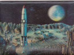 CPA SPACE SHUTTLE, MOON, 3D - Espace