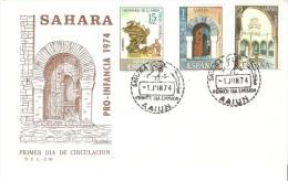 Sobre De Primer Dia Sahara Nº 314/6 - Sahara Español