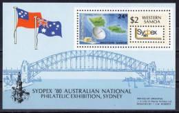 Western Samoa 1980 Sydpex '80 Sydney Harbour Bridge MS MNH - Samoa