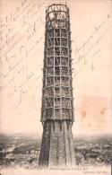 28 CHARTRES  ECHAFAUDAGE DU CLOCHER SUD  CARTE PRECURSEUR CIRCULEE - Chartres