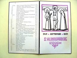 IZEGEM St.-Hiloniusparochie Betreurde Parochianen Afgestorven Overleden 1949-1950 September (bidprentje) - Décès