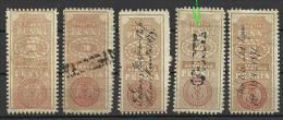 FINNLAND FINLAND Ca 1865-1875  Revenue Tax Stamps Steuermarken O - Oficiales