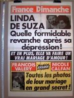 PUBLICITE 1987 ? AFFICHE DE PRESSE FRANCE DIMANCHE 50X73cm LINDA DE SUZA SA REVANCHE FRANCOIS VALERY ET NICOLE CALFAN MA - Affiches