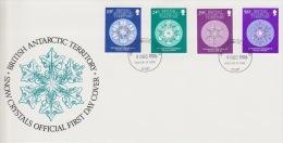 PLIS ANTARCTIQUE BRITISH 50eme Anniversaire Glaciologie 6-12-1986 - Territoire Antarctique Britannique  (BAT)
