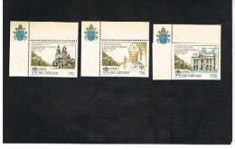 VATICANO - UNIF. 1059.1061  - 1996  50^ ANNIV. SACERDOZIO S.S. GIOVANNI PAOLO II     -   NUOVI  (MINT)** - Vaticano (Ciudad Del)
