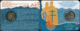 504-SLOVAKIA 2 Euro Coincard BU 1150 Th Anniversary Constatntine & Methodius UNC 7000 Pcs 2013 - Slowakei