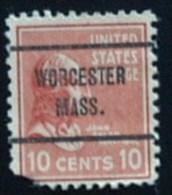 Presidential Series 1938 - Worchester Mass. - Prematasellado