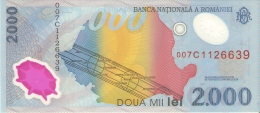 BILLETE DE RUMANIA DE 2000 LEI DEL AÑO 1999  (BANKNOTE) SIN CIRCULAR-UNCIRCULATED - Romania