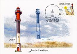 E109 Estonia, 2007 Juminda Lighthouse, Maxicard Tallinn - Estonia