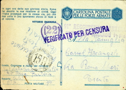 FRANCHIGIA WWII POSTA MILITARE 80 1943 ENFIDAVILLE TUNISIA X MORI DIVIS SUPERGA - 1900-44 Vittorio Emanuele III