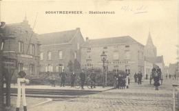 BOORTMEERBEEK   STATIESTRAAT  1906    MET VOLK  EN CAFE  DE WARANDE   !!!!!  AAN SPOORWEG - Boortmeerbeek